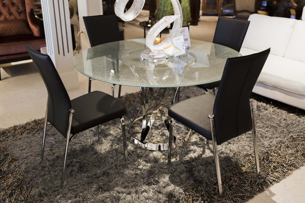 Janet Crackled Glass Dining Set