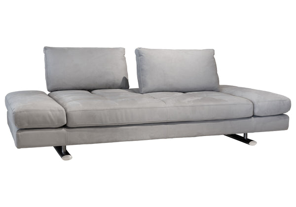 1372 Movable Back Sofa - Grey Fabric
