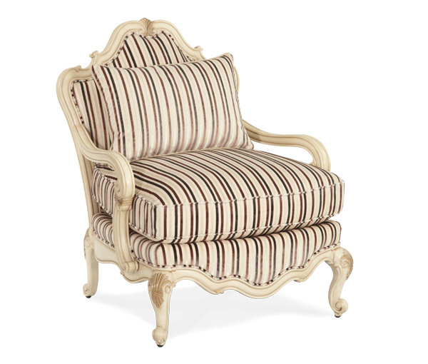 Lavelle Blanc Bergere Wood Chair