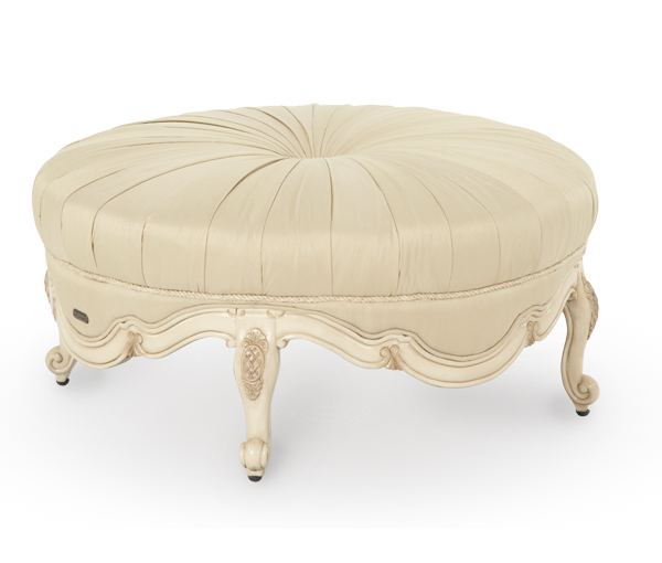 Lavelle Blanc Round Cocktail Ottoman Gallery Furniture  : LavelleWoodTrimRoundCocktailOttoman Opt2grande from www.shopgalleryfurniture.com size 600 x 510 png 380kB