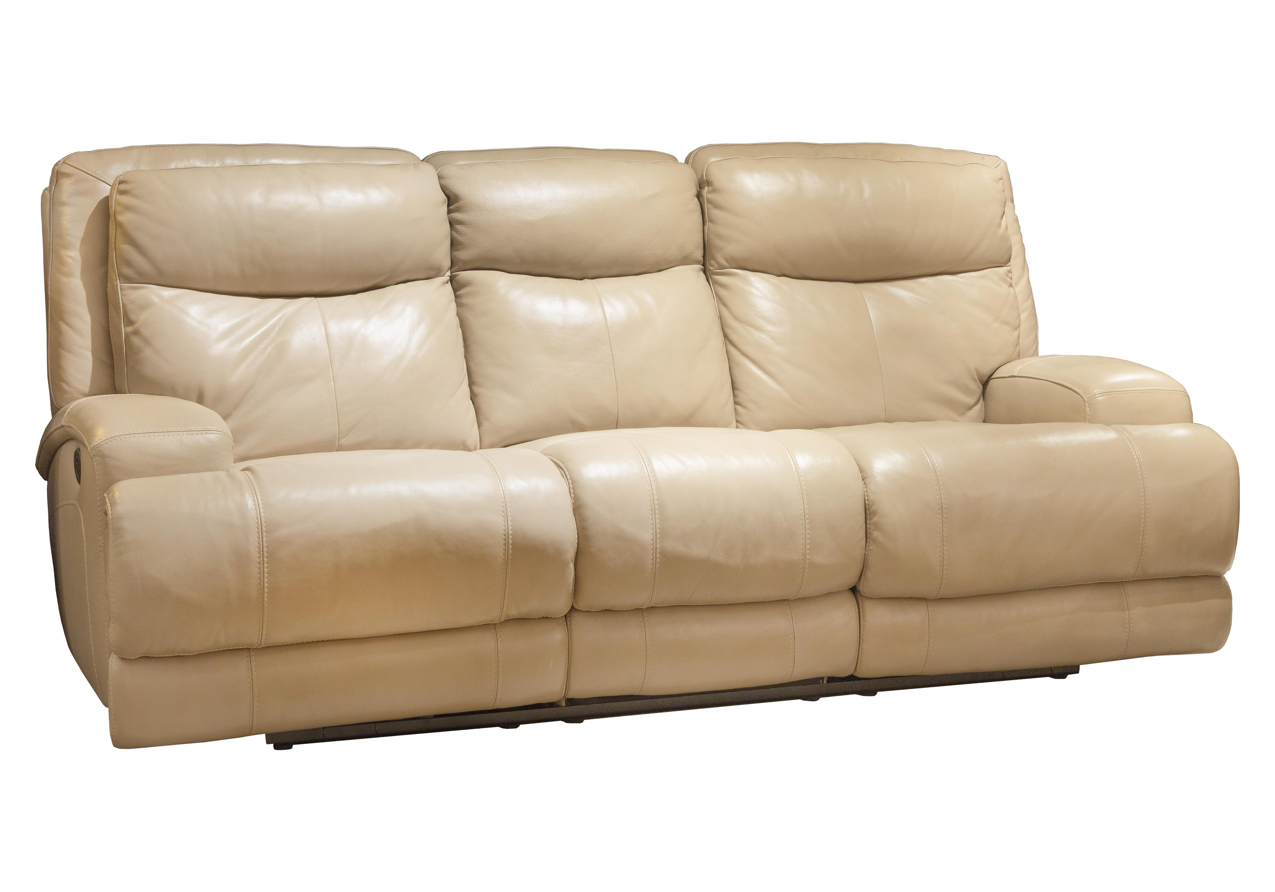 3692ED Power Recliner Leather Sofa Beige Violino Limited