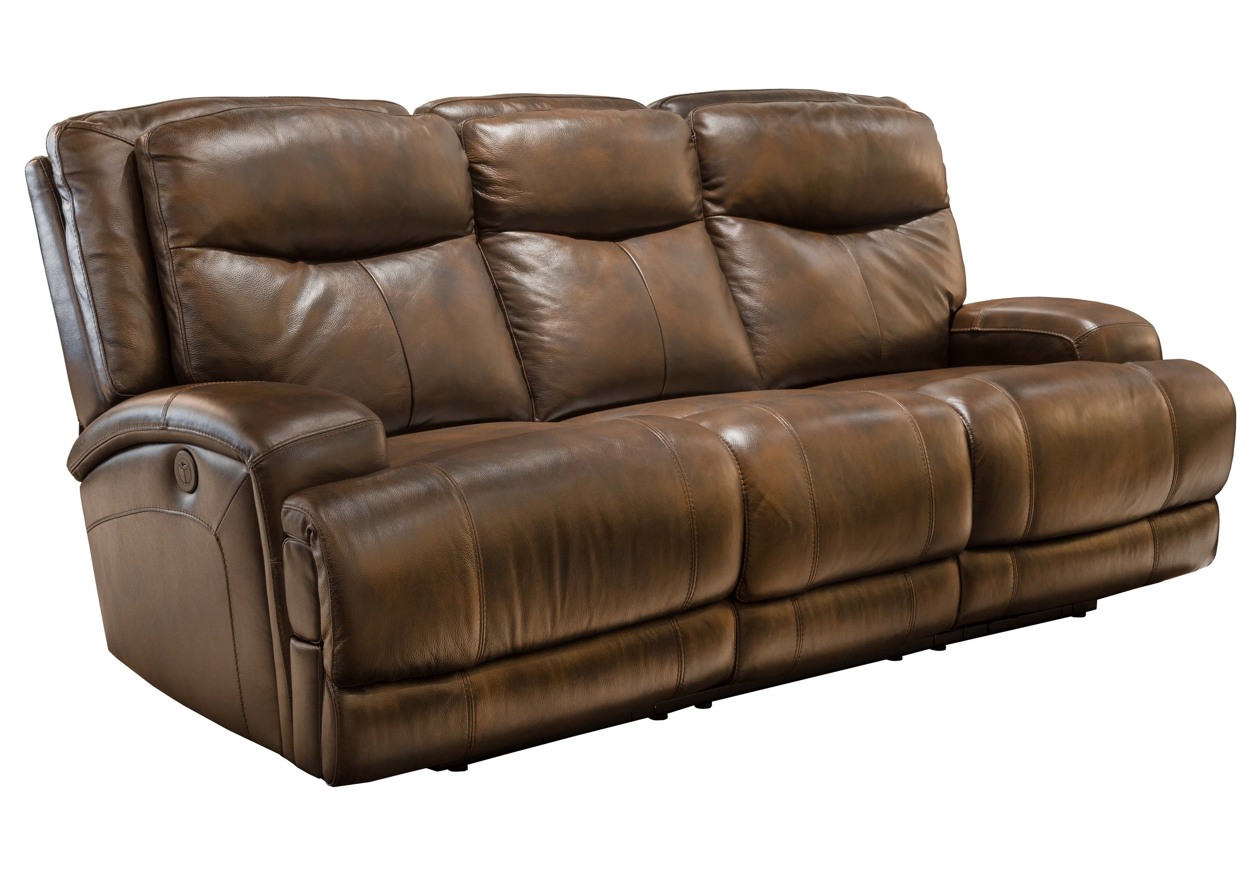 3692ED Power Recliner Leather Sofa   Brown | Violino Limited