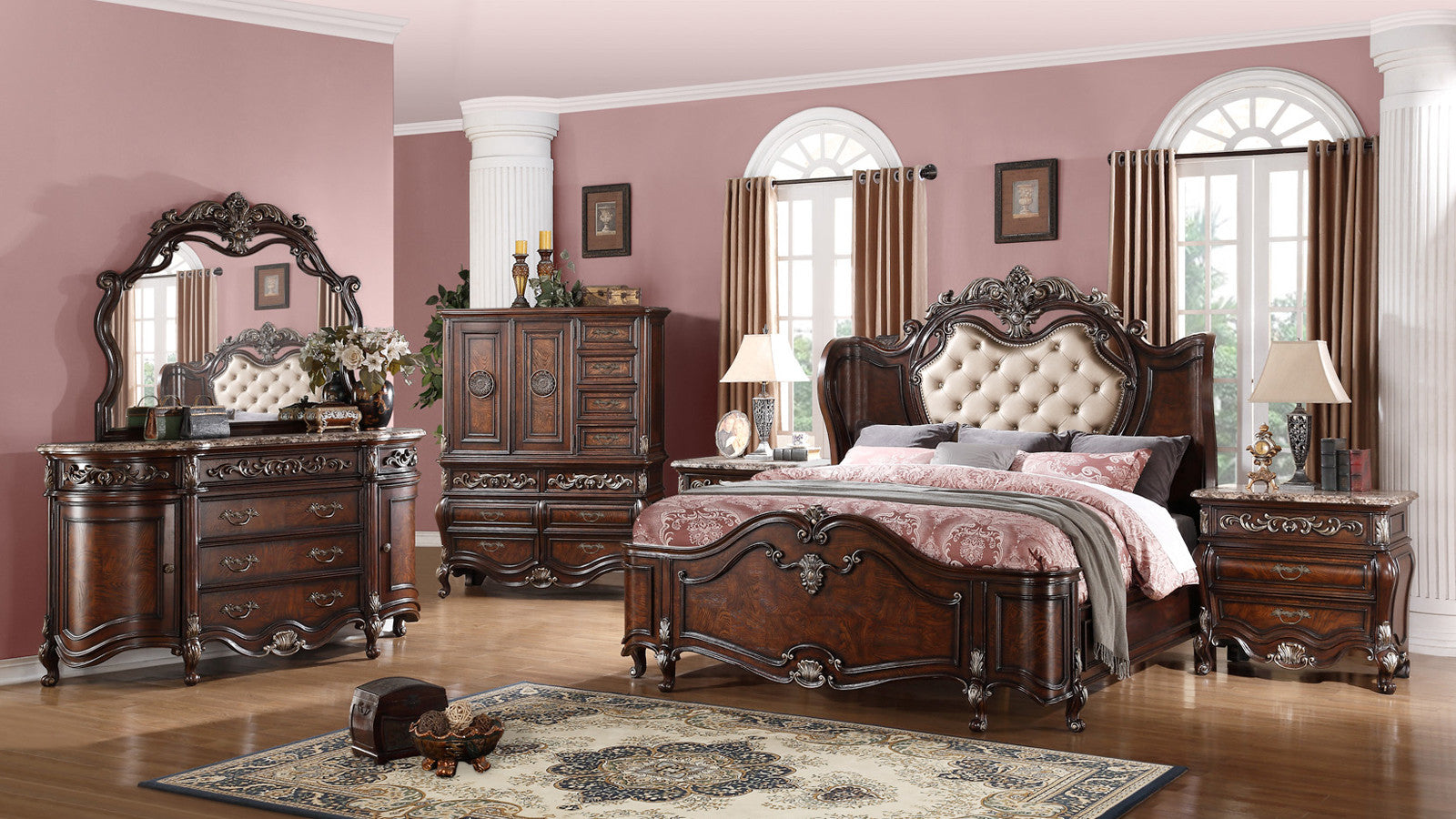 Amazing ... Tiffany Winged Panel Bed   Cosmos Furniture