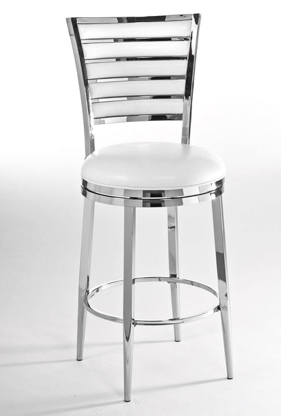 Rouen Swivel Barstool in Ivory | Hillsdale Furniture