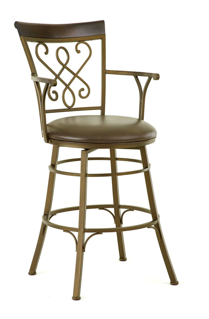 Carmona Swivel Bar Height Barstool Steve Silver Company Gallery