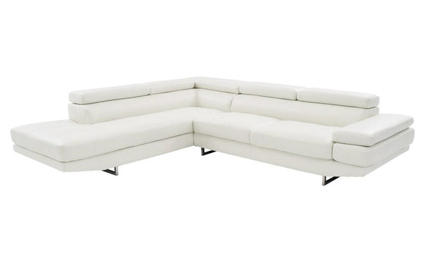 Tahoe Top Grain Leather Sectional - LAF Chaise Configuration