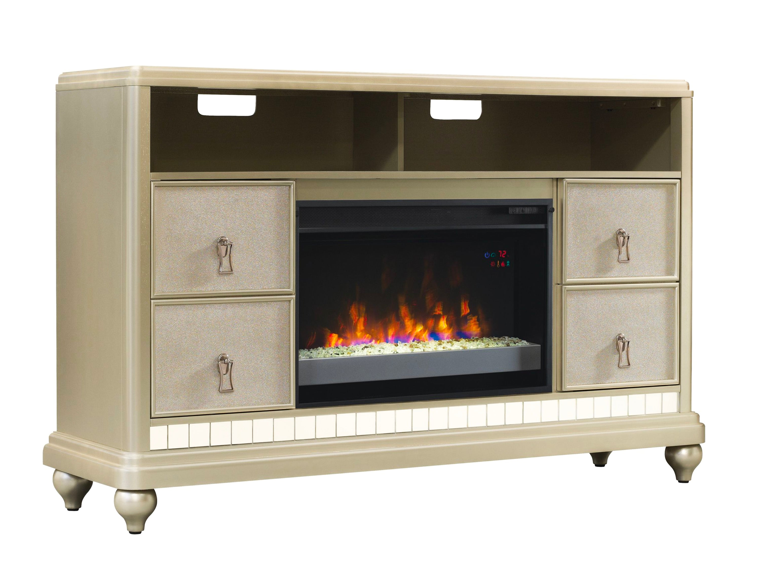 diva tv stand with fireplace classic flame by twin star