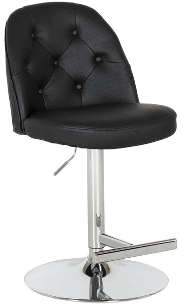 Archer Adjustable Height Barstool in Charcoal Black | Whalen Furniture