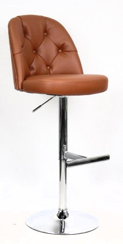 Archer Adjustable Height Barstool in Saddle | Whalen Furniture