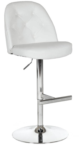 Archer Adjustable Height Barstool in White | Whalen Furniture