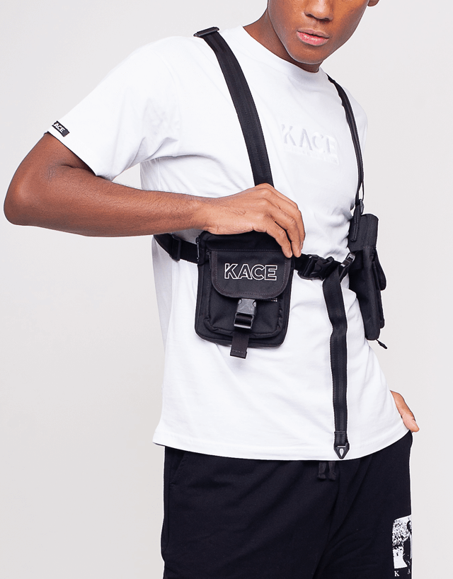 Black Side Double Holster Bag Kace Logo