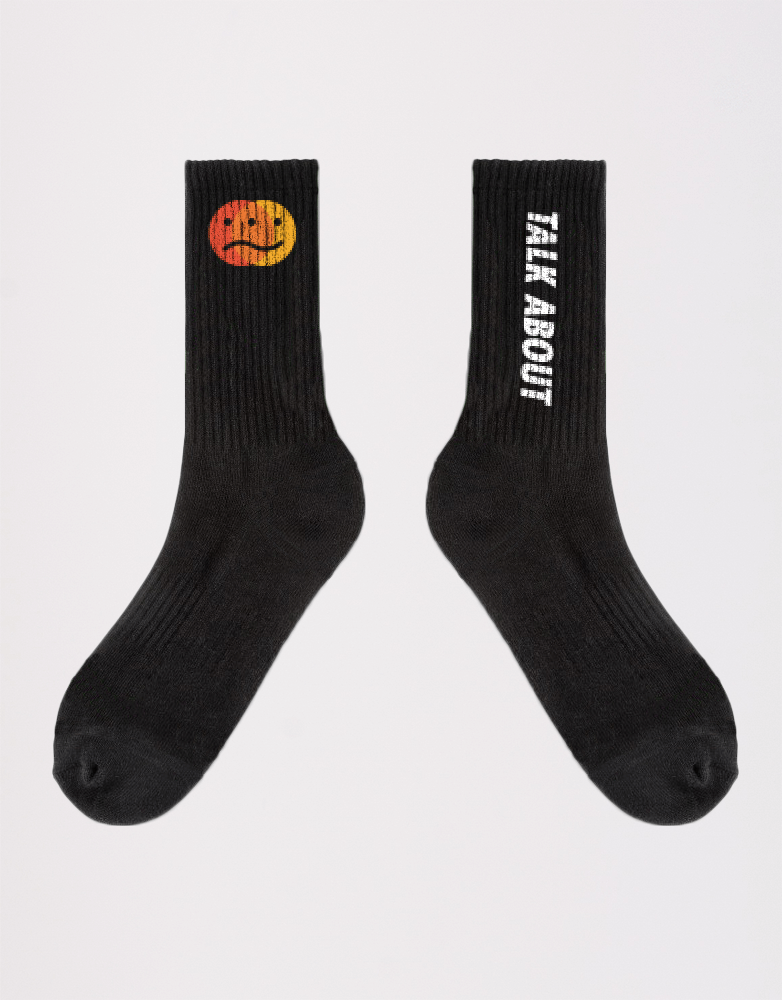 Kace Mental Health Black Long Sock