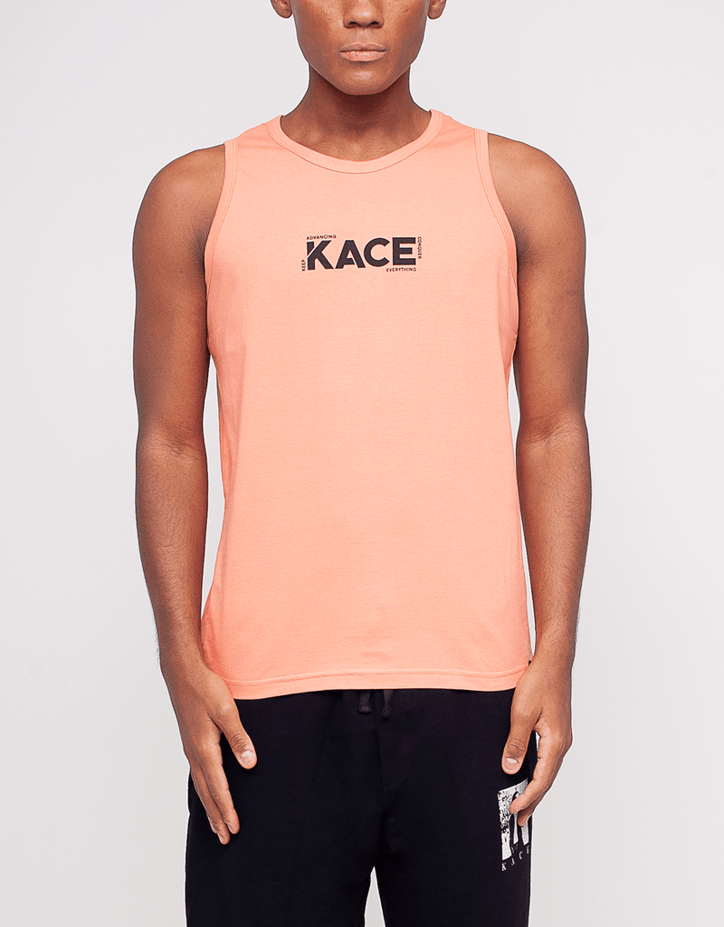 Men's Printed Tank Top Kace Logo Coral