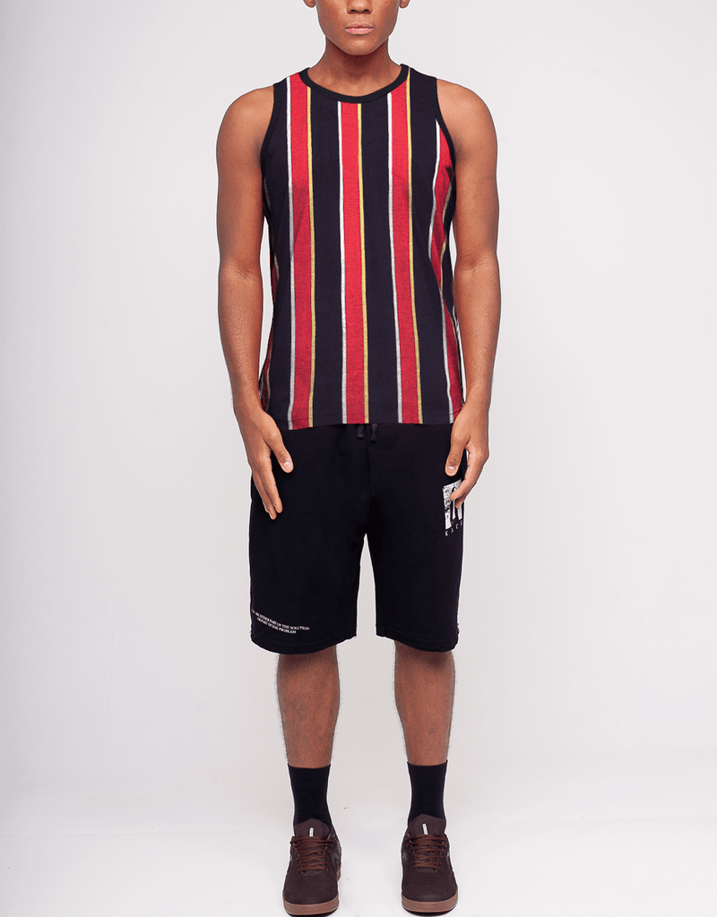 Kace Men's Vertical Stripes Tank