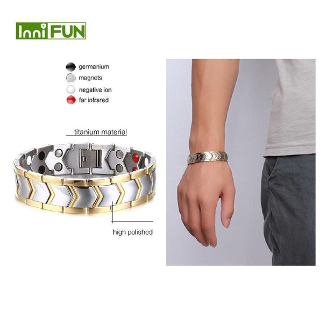 15mm Wide Magnetic Health Care Bracelet For Men-American Aura