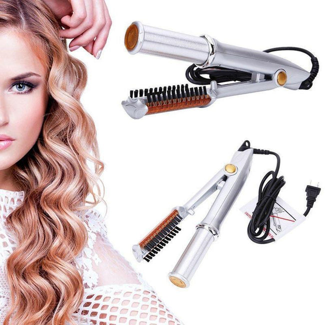 2 In 1 Hair Curler With Automatic Rotation-American Aura