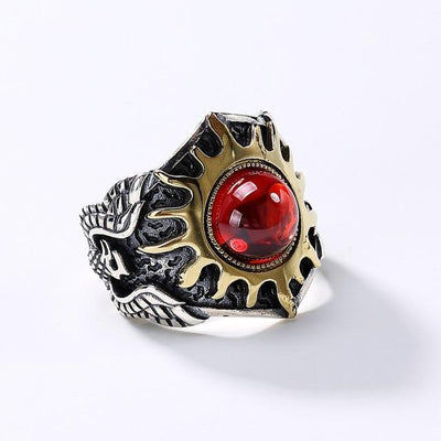 925 Sterling Silver Sun God Adjustable Ring-American Aura