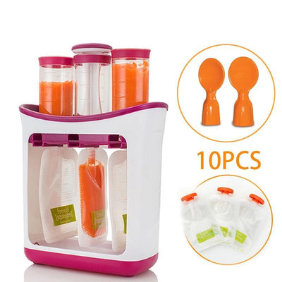 Baby Food Containers with Squeeze Storage Bags-American Aura