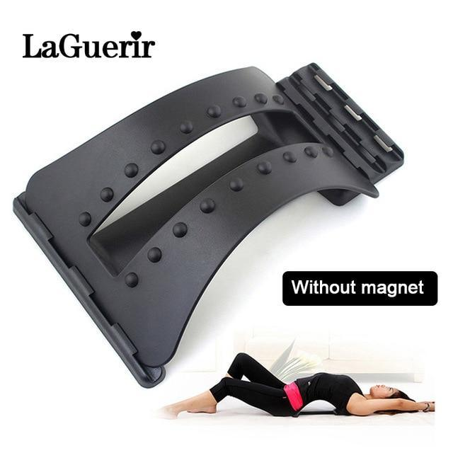 Back Massager Stretcher Fitness Massage Equipment Stretch Relax Stretcher Lumbar Support Spine Pain Relief Chiropractic Dropship-American Aura