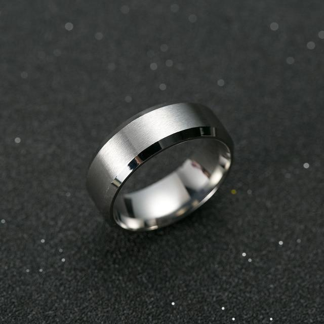 Black Titanium Men's Ring-American Aura