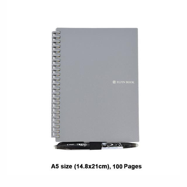Elfinbook 2.0 Smart Reusable Notebook Lined With Pen-American Aura