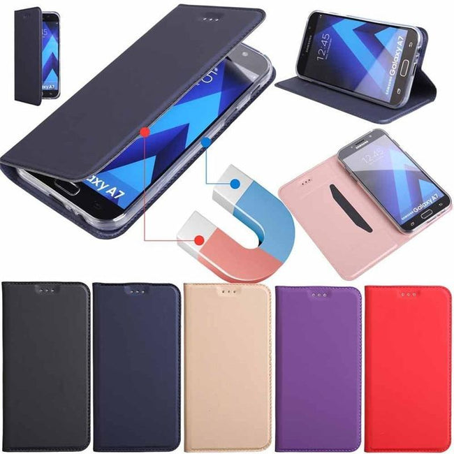 Samsung Galaxy Magnetic Wallet Leather Stand Case-American Aura