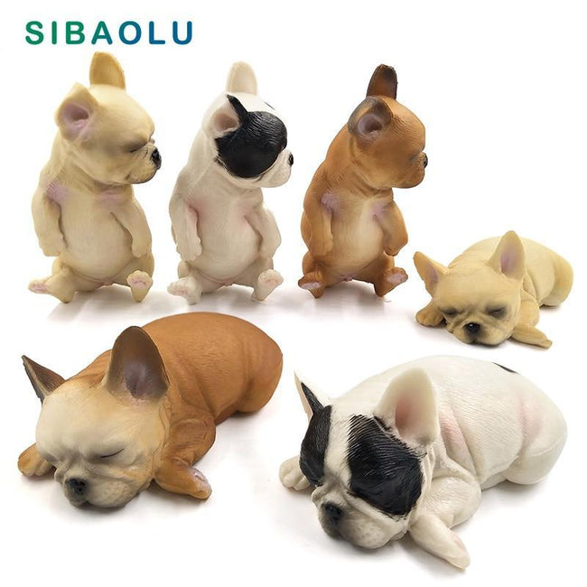Sleeping Small Dog Figurine-American Aura