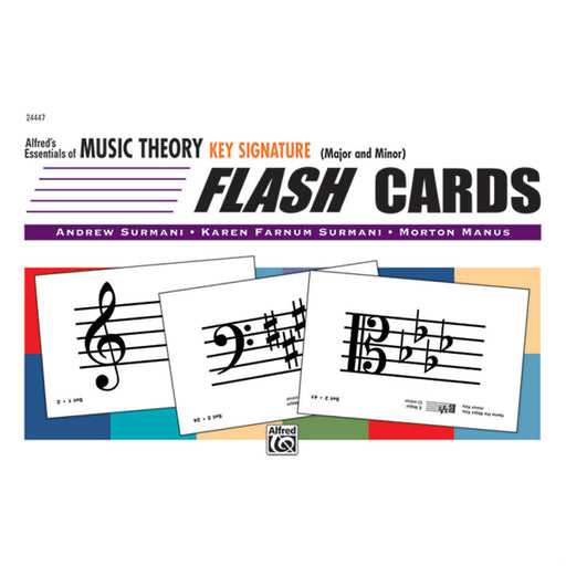 Alfred's Essentials of Music Theory Key Signature Flash Cards - Octave Music Store