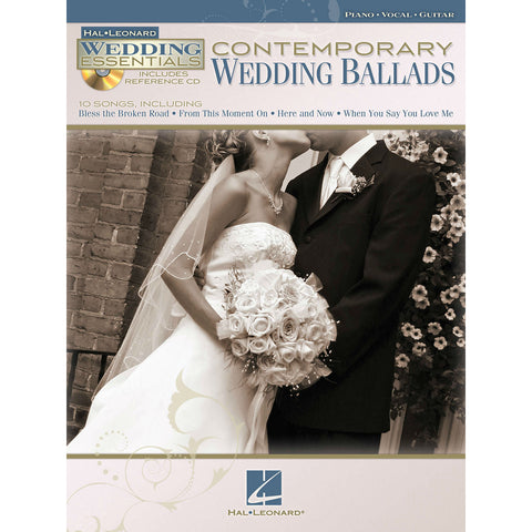 Contemporary Wedding Ballads For Piano, Vocal, Guitar (Includes Reference CD) - Octave Music Store