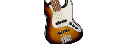 Player Jazz Bass V, Pau Ferro Fingerboard, 3-Color Sunburst