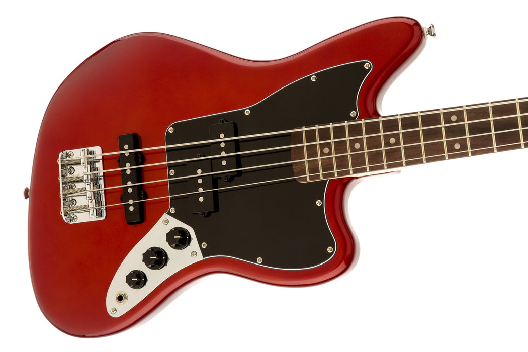 VINTAGE MODIFIED JAGUAR® BASS SPECIAL SS (SHORT SCALE) - CANDY APPLE RED - Octave Music Store - 3