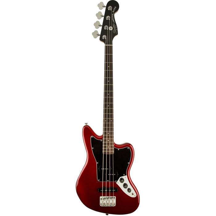 VINTAGE MODIFIED JAGUAR® BASS SPECIAL SS (SHORT SCALE) - CANDY APPLE RED - Octave Music Store - 1