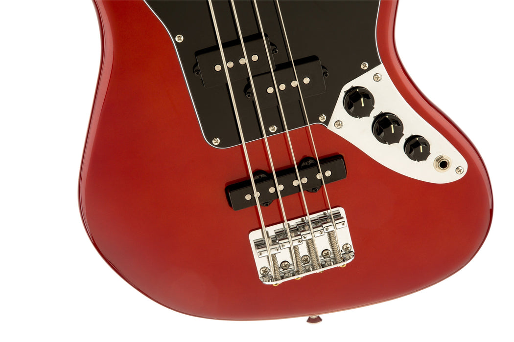 VINTAGE MODIFIED JAGUAR® BASS SPECIAL SS (SHORT SCALE) - CANDY APPLE RED - Octave Music Store - 4