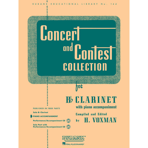 Concert and Contest Collection for Bb Clarinet - Piano Accompaniment - Octave Music Store