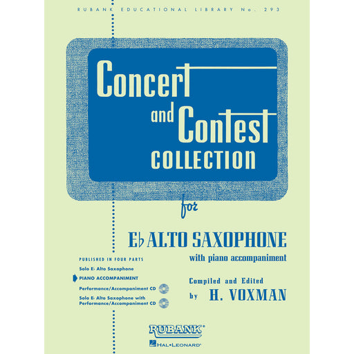 Concert and Contest Collection for Eb Alto Saxophone - Piano Accompaniment - Octave Music Store