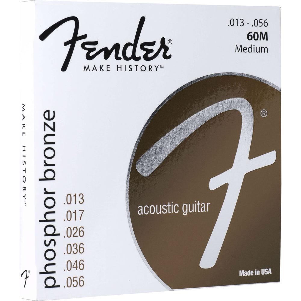 Fender Phosphor Bronze Acoustic Guitar Strings, Ball End, 60M .013-.056 Gauges - Octave Music Store