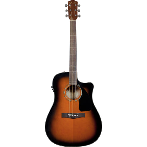 FENDER CD-60CE ACOUSTIC GUITAR WITH CASE - SUNBURST FINISH - Octave Music Store