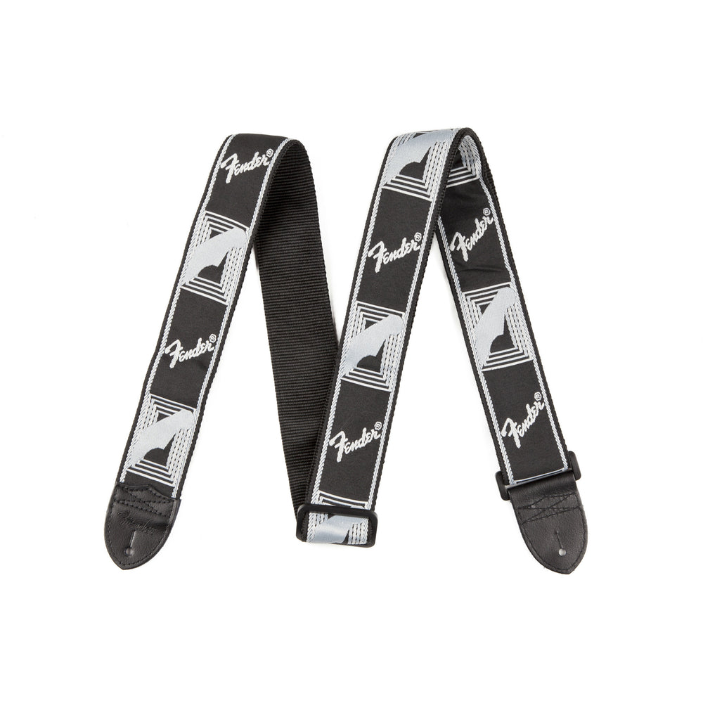"Fender® 2"" Monogrammed Strap, Black/Light Grey/Dark Grey - Octave Music Store - 1"