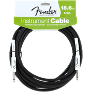 FENDER® PERFORMANCE SERIES INSTRUMENT CABLE, 18.6', BLACK