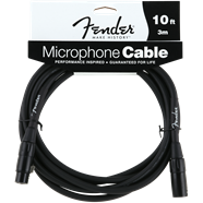 FENDER® PERFORMANCE SERIES MICROPHONE CABLE, 10', BLACK