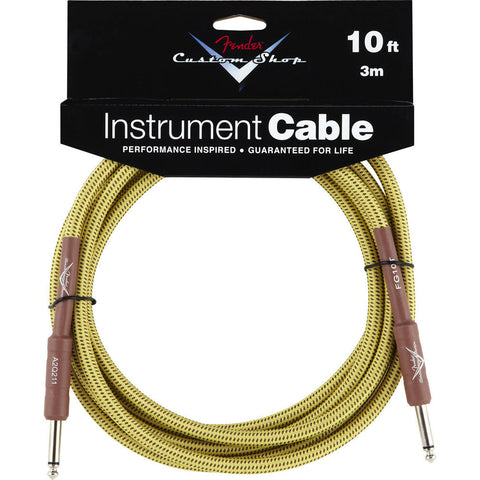 Fender® Custom Shop Performance Series Cable, 10', Tweed - Octave Music Store