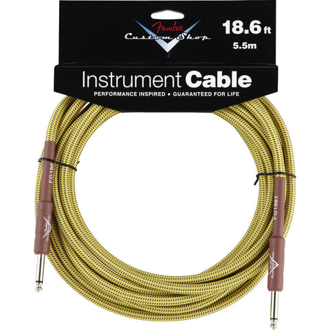 Fender® Custom Shop Performance Series Cable, 18.6', Tweed - Octave Music Store