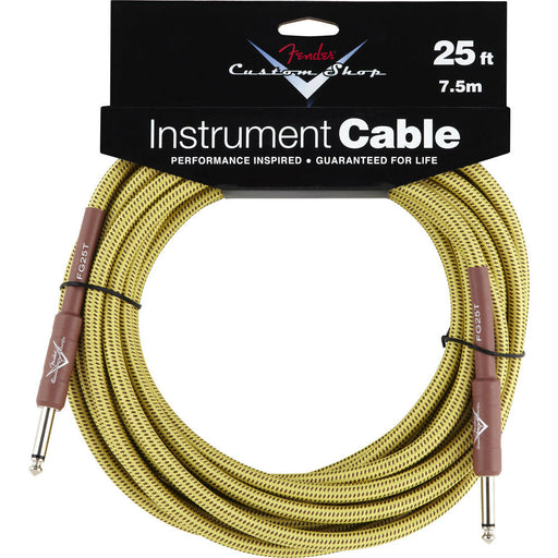 Fender® Custom Shop Performance Series Cable, 25', Tweed - Octave Music Store