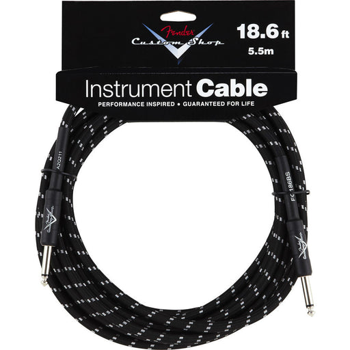 Fender® Custom Shop Performance Series Cable, 18.6', Black - Octave Music Store