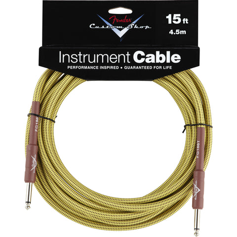 Fender® Custom Shop Performance Series Cable, 15', Tweed - Octave Music Store
