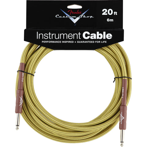 Fender® Custom Shop Performance Series Cable, 20', Tweed - Octave Music Store