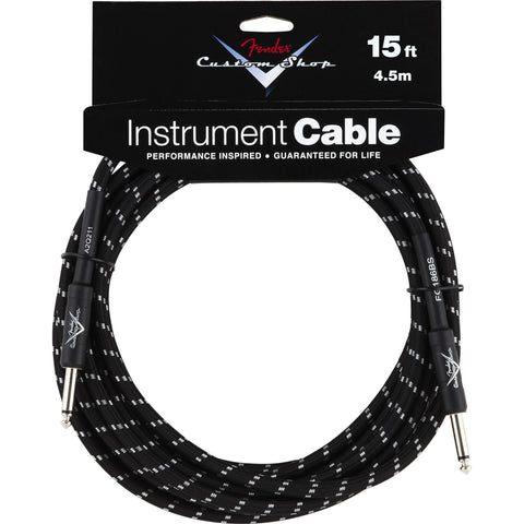 Fender® Custom Shop Performance Series Cable, 15', Black - Octave Music Store