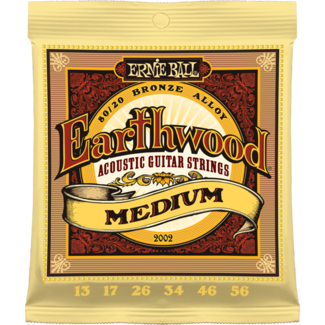 Ernie Ball EARTHWOOD MEDIUM ACOUSTIC 80/20 BRONZE Strings - Octave Music Store