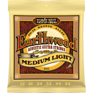 Ernie Ball EARTHWOOD MEDIUM LIGHT ACOUSTIC 80/20 BRONZE Strings - Octave Music Store
