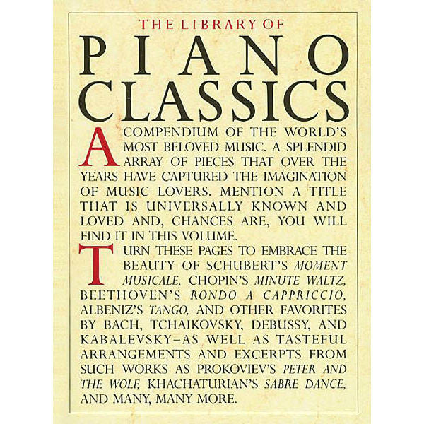 The Library Of Piano Classics - Octave Music Store